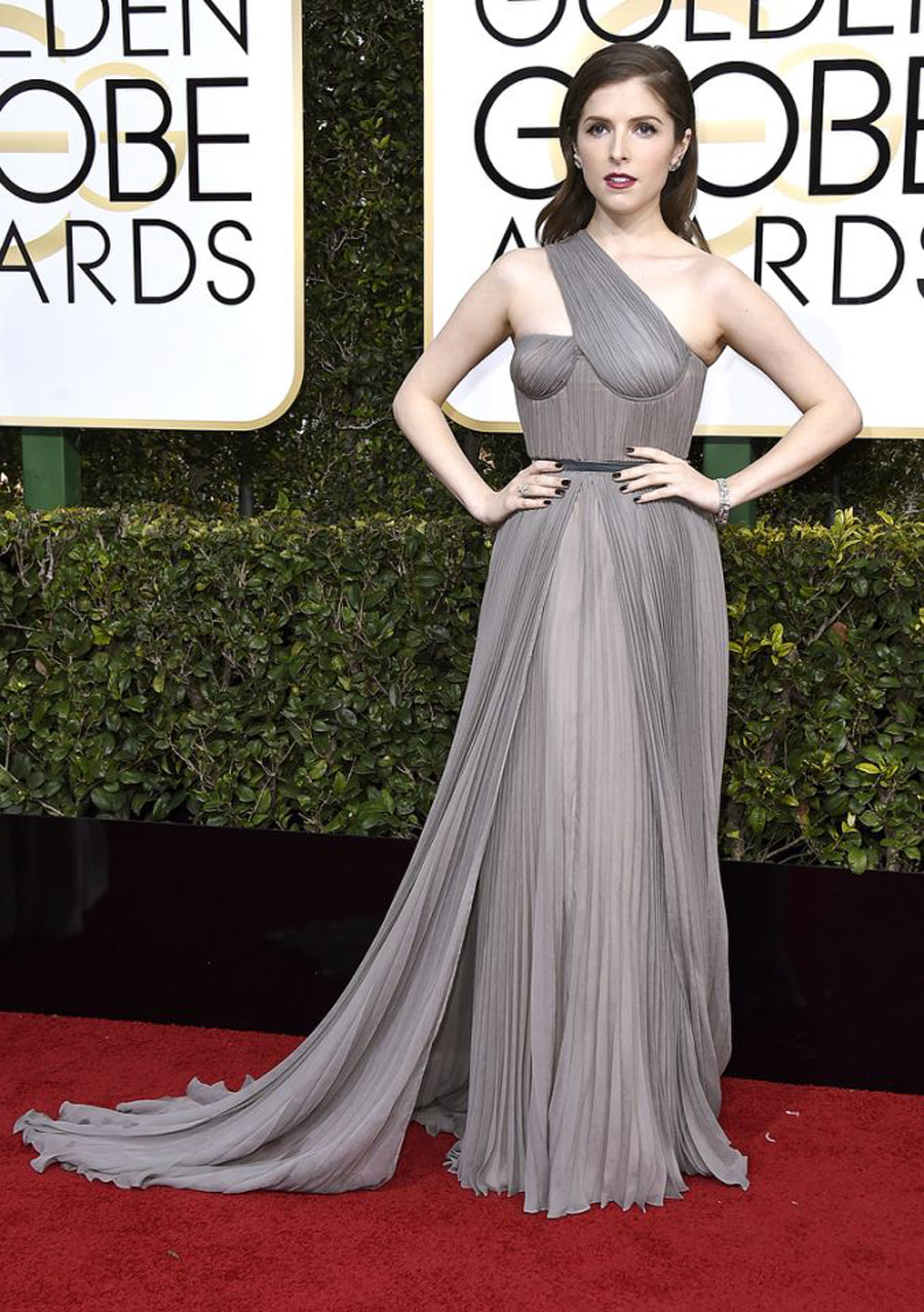 Red Carpet Favorites from 2017 Golden Globes - Anna Kendrick in a Vionnet dress