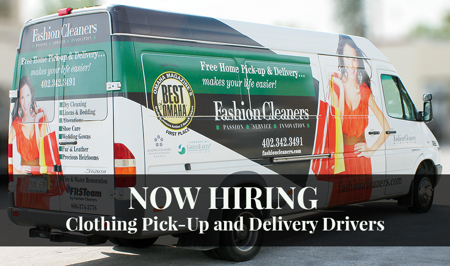 Job Opening – Clothing Pick-Up and Delivery Driver