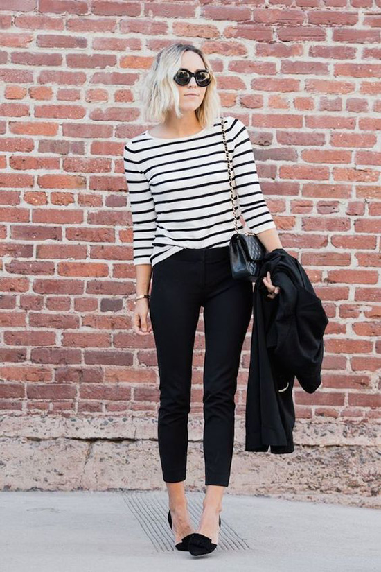 15 Casual Spring Styles We Love classic black and white