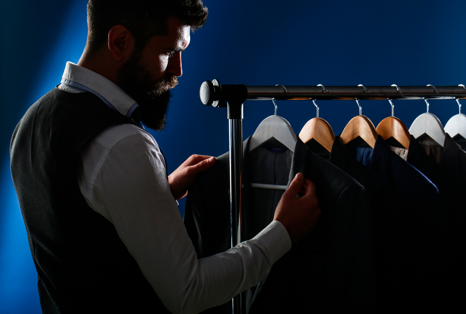 Selecting a men's suit