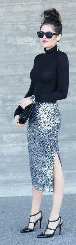 Wearing Sequins on NYE 1
