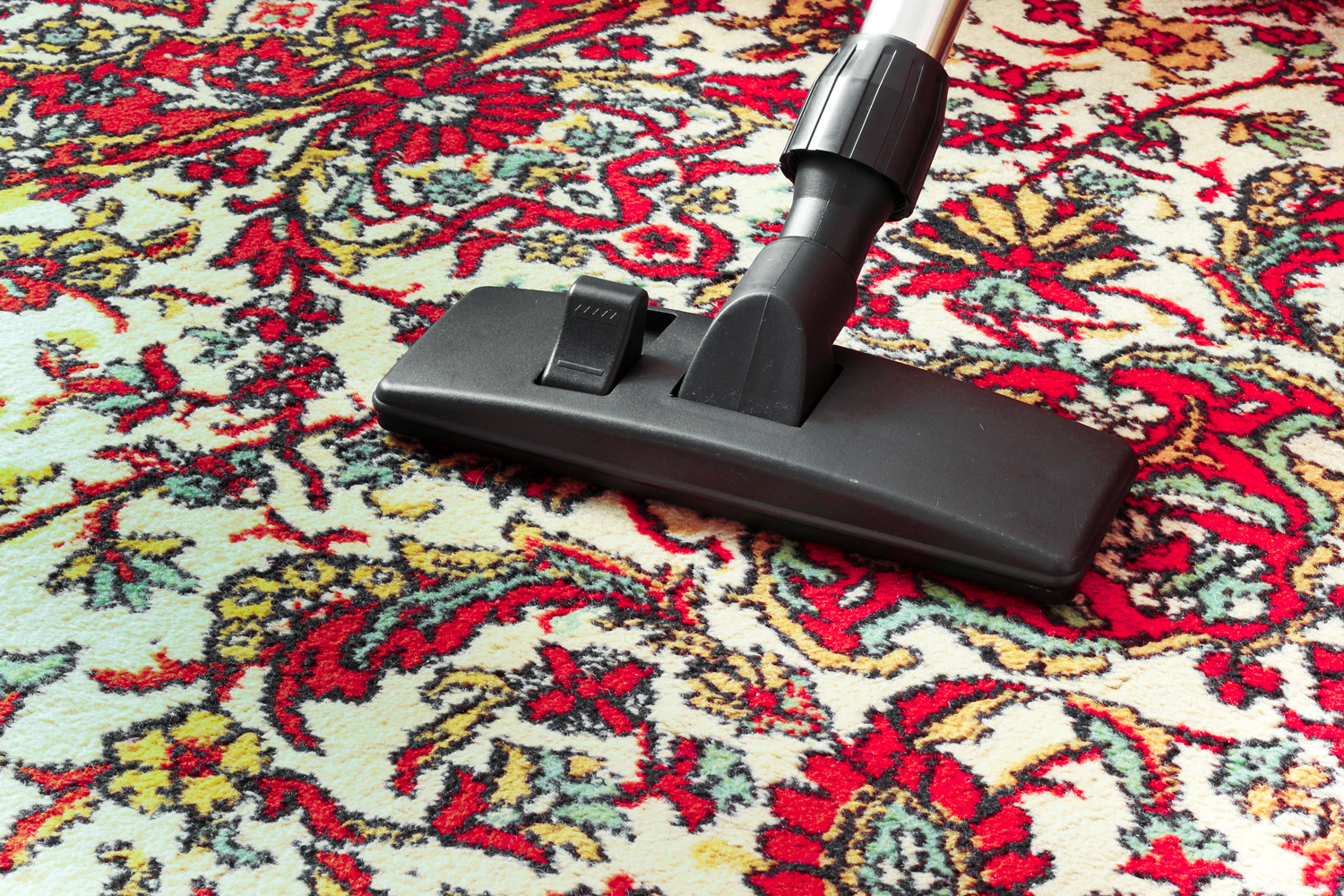 Area Rug Care requires vacuuming often