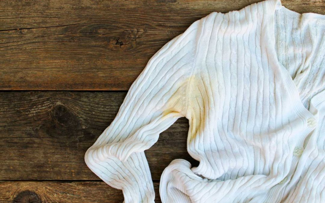How to remove underarm stains from clothing
