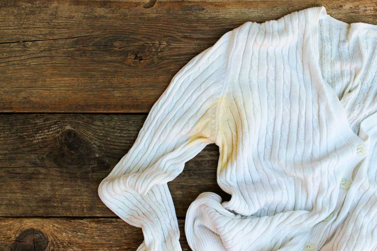 How to remove underarm stains from garments